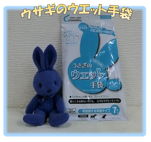 ウサギのウエット手袋