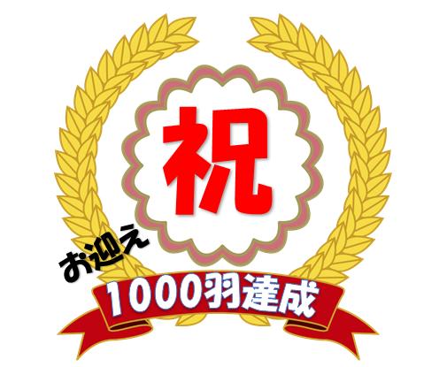 1000羽達成!